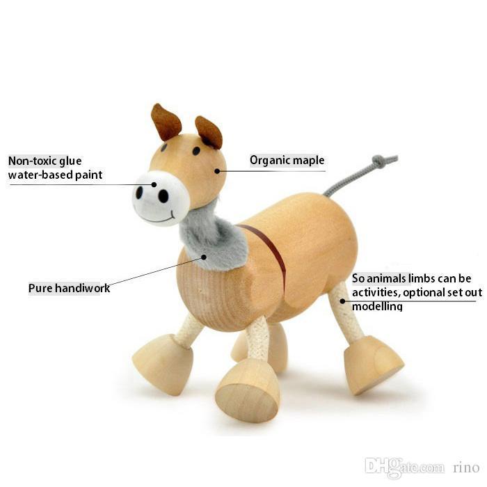 Baby Moveable Maple Wooden Animals Toys Australia Wood Handmade Farm 24 Animals Toys Baby Educational Wooden Toys