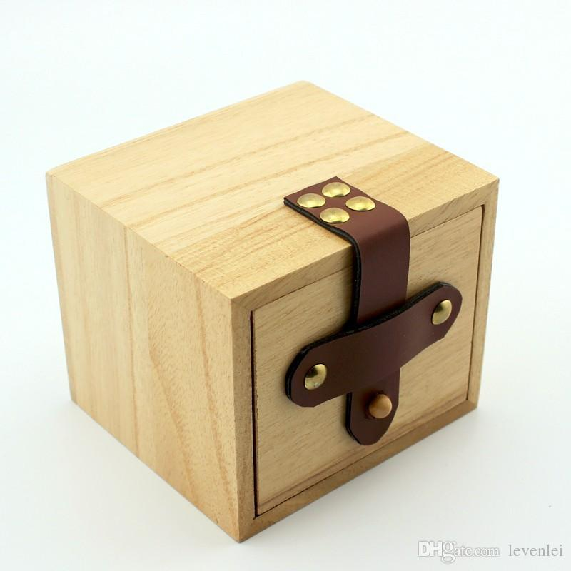 Wooden Gift Box Drawers Boxes Watch Case 9 X9.5 X10.5 Cm As ...