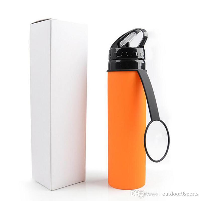 Открытый езда Чайники Красочный Велоспорт Портативный Кубок складной велосипед аксессуары Силиконовые очки Выдвижной горный велосипед бутылки воды