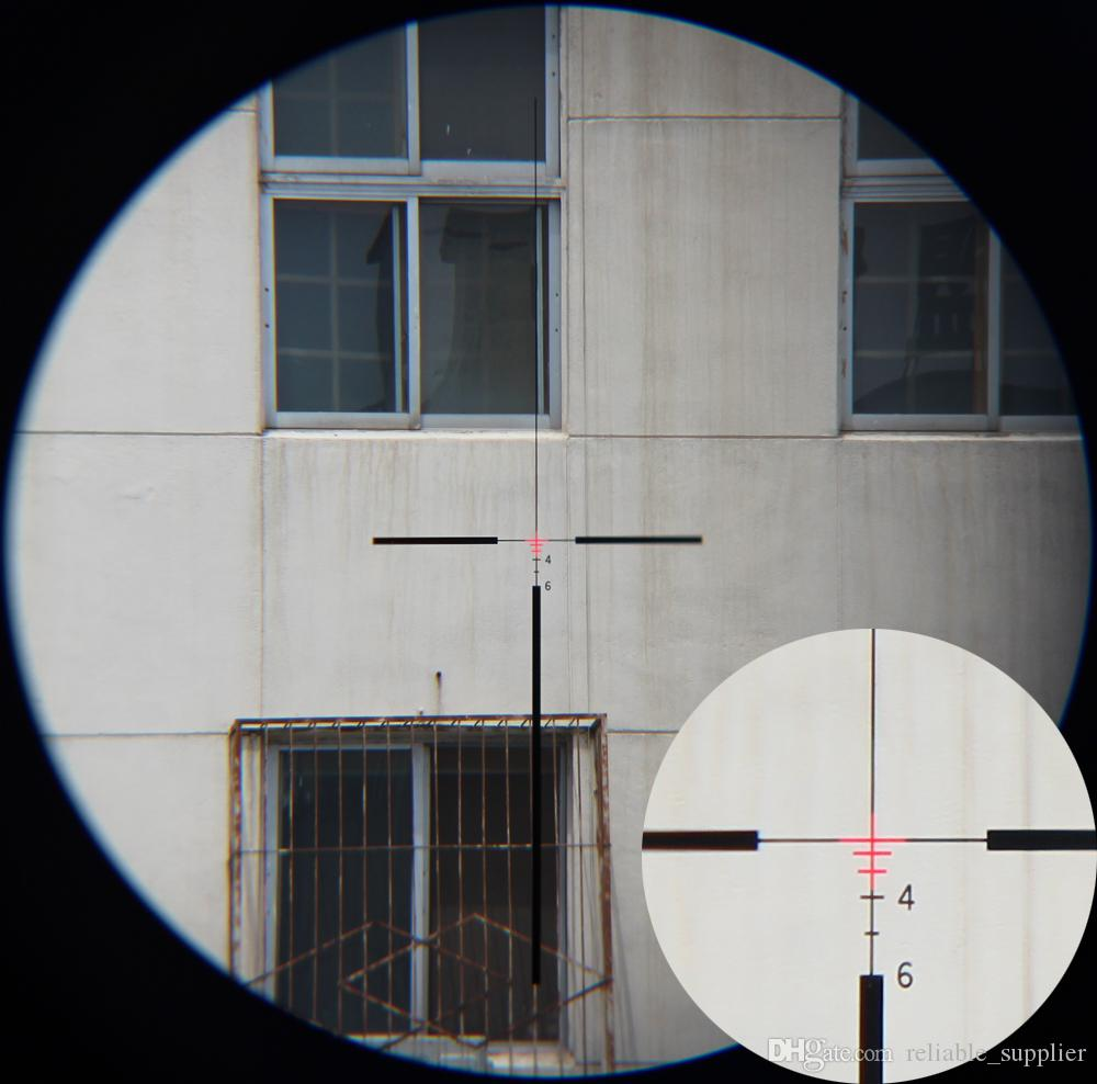 Hunting Tactical Trijicon ACOG Style 4X32 Fiber Source Red Illuminated Scopes w/ RMR Micro Red Dot