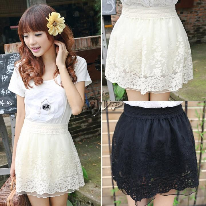 6aa6efceb7bd81 2019 Summer New Sexy Korean Girls Ladies Waist Bubble Tutu Floral Lace  Tulle Mini Skirt Hot B003 SV000418 From Lizhang03, $11.91 | DHgate.Com