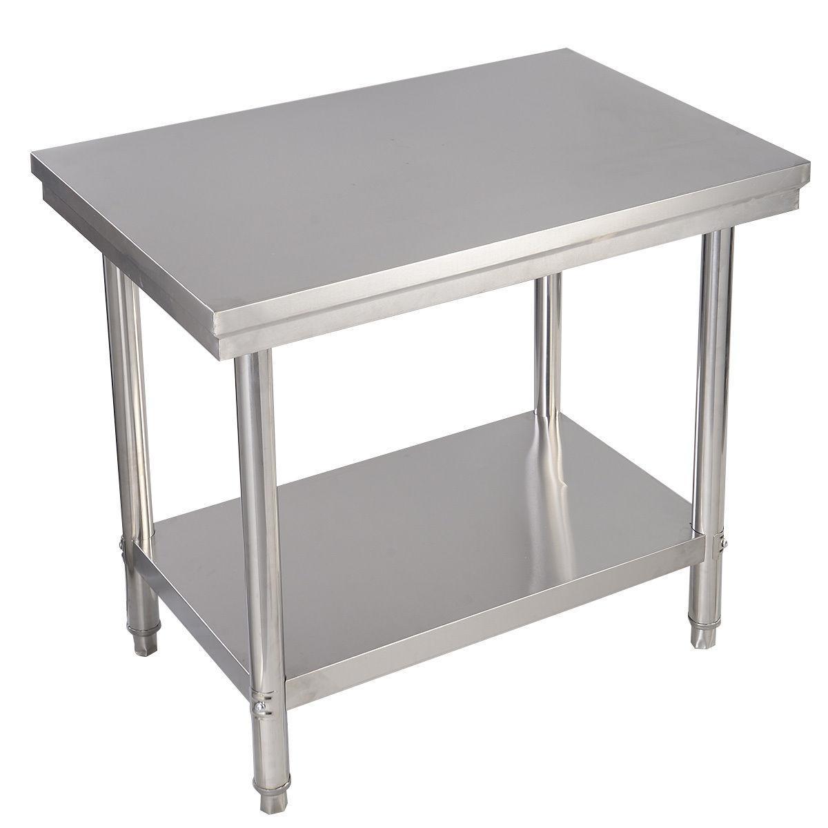 24 x 36 Tavolo da lavoro per cucina professionale da lavoro in acciaio  inossidabile