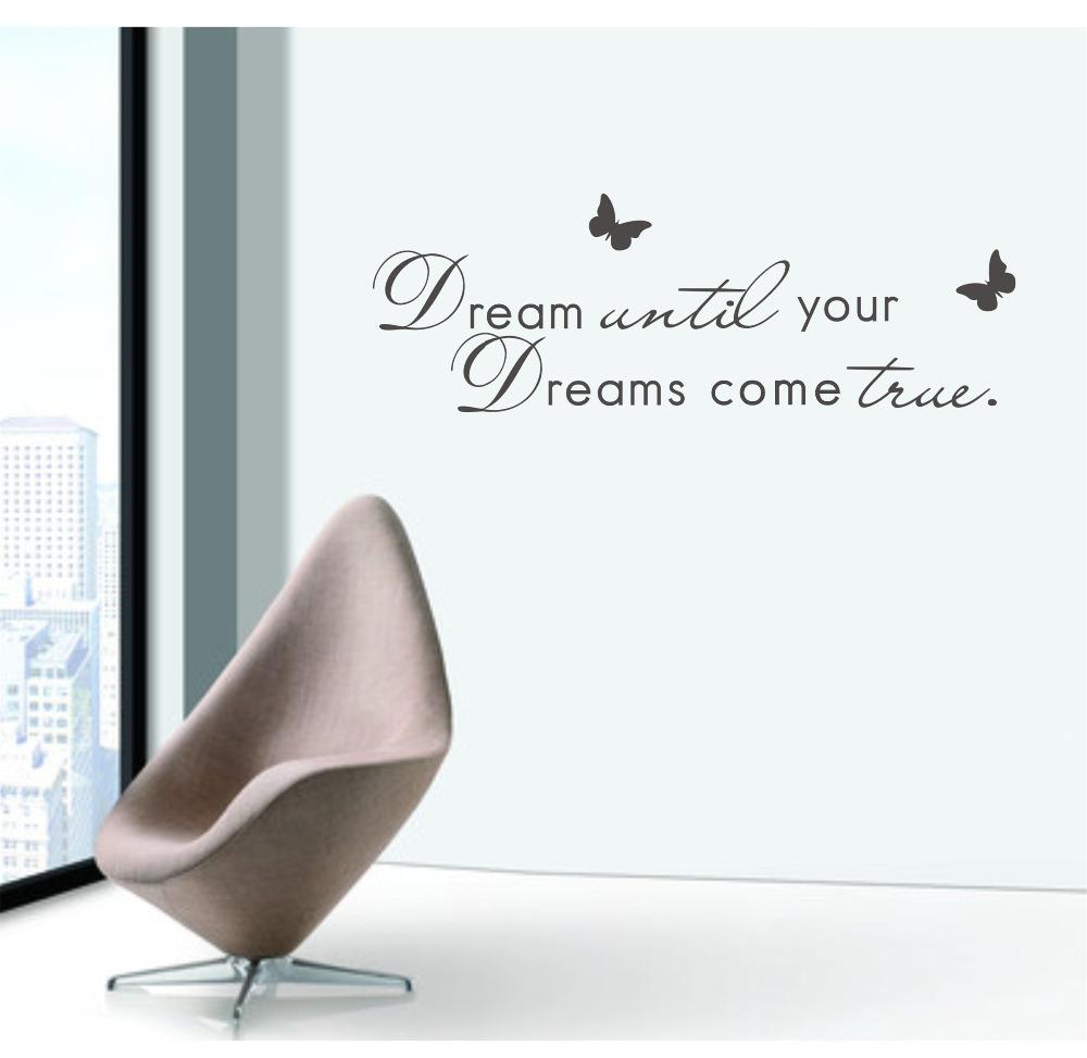 Wall Quotes English Quotations Dream Until Your Dreams Come True Vinyl  Removable Wall Sticker Kids Quote Wall Vinyl Decal Wall Vinyl Decals From  Lin116, ...