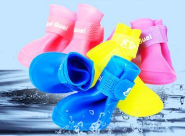 Wholesale Candy Colors Shoes For Dog Pet Shoes PVC Pet Outdoor Rain Shoes Dog Rain Boots
