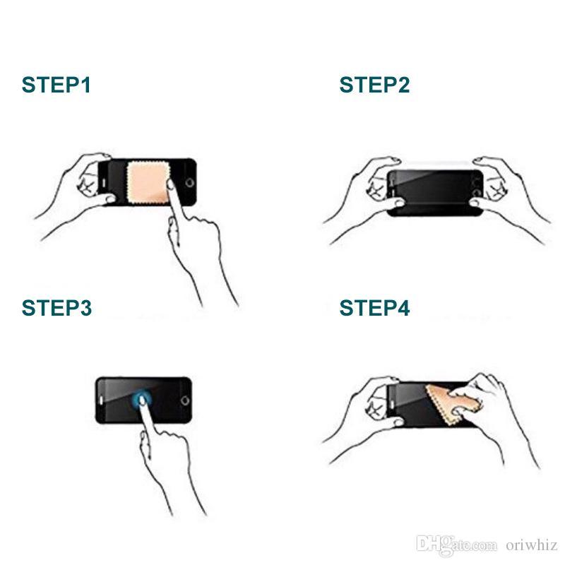 Vidrio templado 5D HD película protectora para iPhone X 6 6 s 7 8 Plus cubierta completa fría tallada Protector de pantalla 1 UNIDS Epacket gratuito