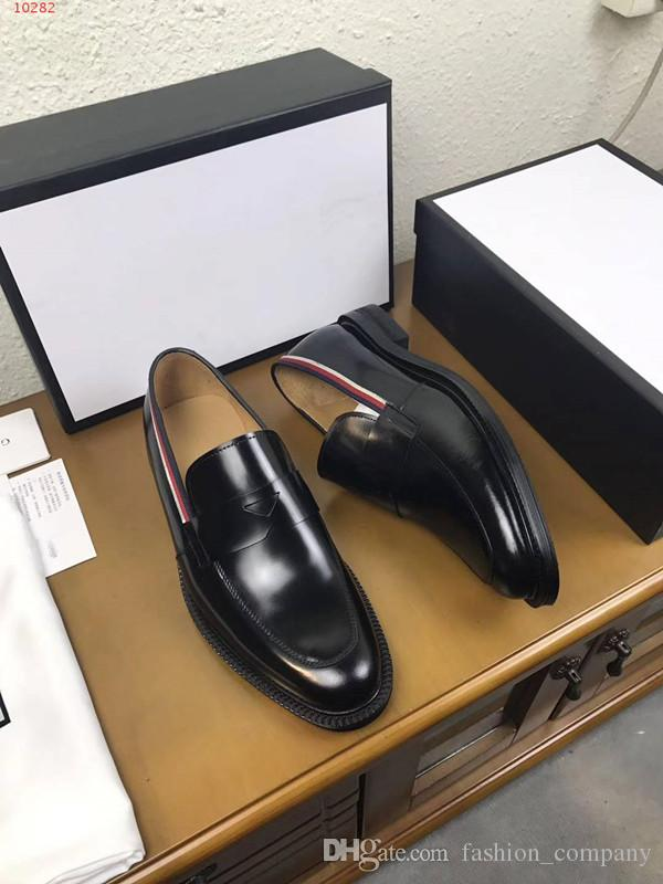 2017 new leather flat shoes high quality men's business shoes, leisure breathable comfortable male shoes: 38-44