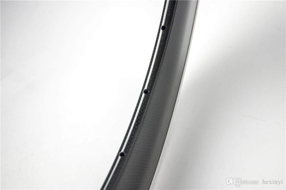 Novo 700C 80mm bicicleta de estrada de corrida 3 K UD 12 K fibra de carbono rodado clincher rodas jantes com superfície de freio da liga Frete grátis