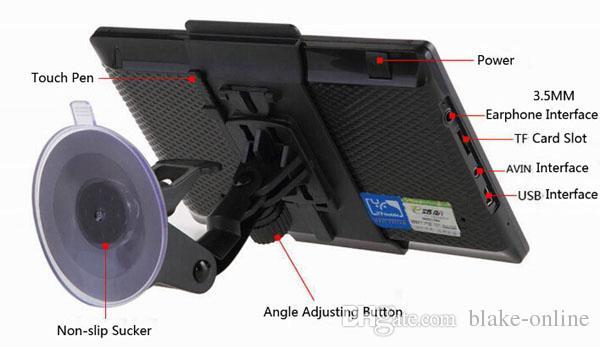 HD 7 Zoll Auto Bluetooth GPS Navigation Wireless Avin Truck GPS Navigator 800MHz RAM256MB FM Sender MP4 8GB 3D Neue Karten
