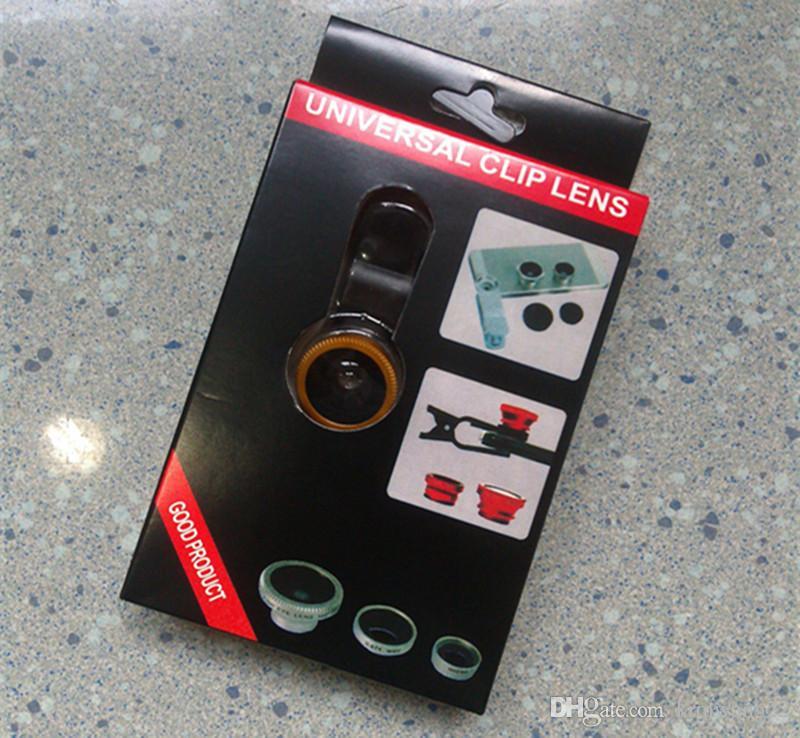 3 в 1 Универсальный клип рыбий глаз широкоугольный макро телефон рыбий глаз стеклянный объектив камеры для iPhone Samsung дешевая цена + лучшее качество
