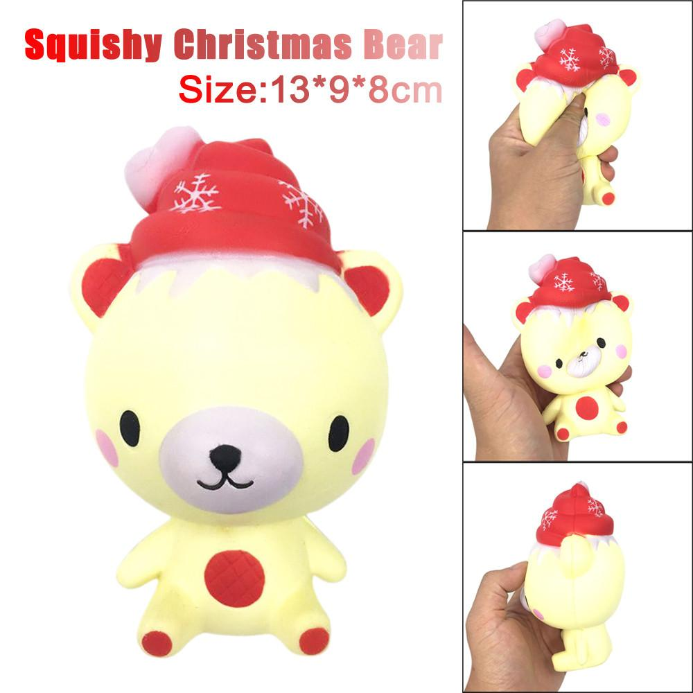 Christmas13cm Squishy Poo Christmas Bear Cream Scented Relieve ...