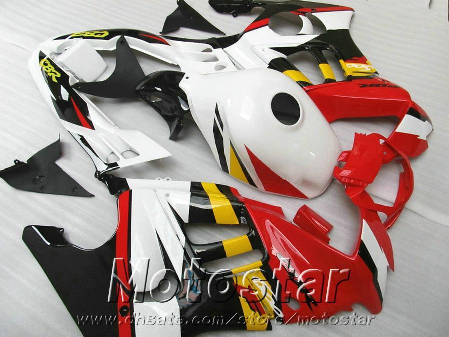 혼다 CBR600 F3 1995 1996 빨간색 흰색 검은 색 정형 CBR 600 F3 95 96 오토바이 부품에 대한 완벽한 유선형의 바디 키트