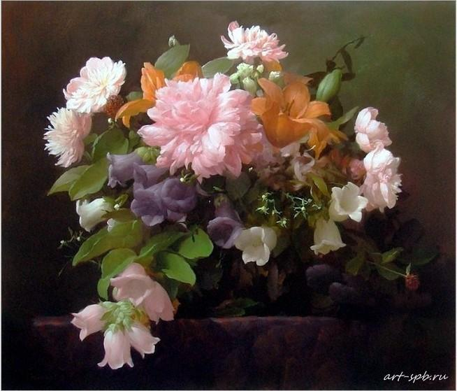 2018 100 hand painted oil painting beautiful flowers home for How to oil paint flowers