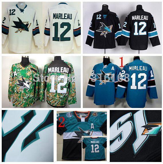 sale retailer c3136 89ecc nhl jerseys san jose sharks 12 patrick marleau stitched ...