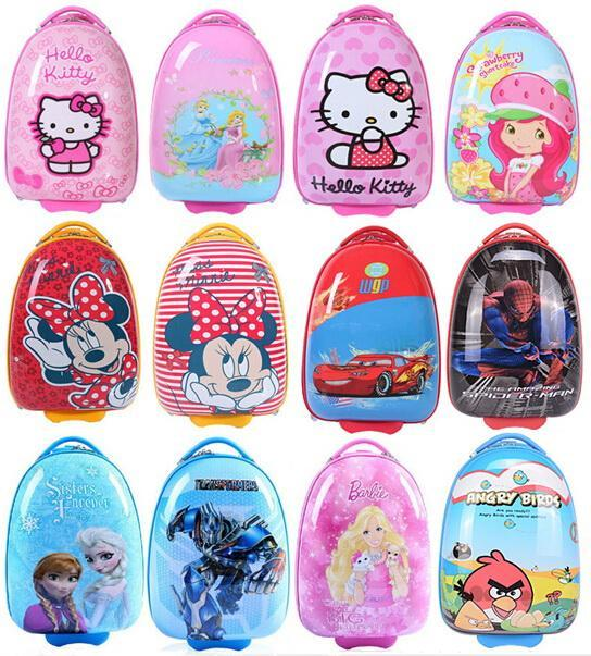 Brand New 16 Inch Egg Shaped Frozen Bags Kids Luggage Travel Bag ...