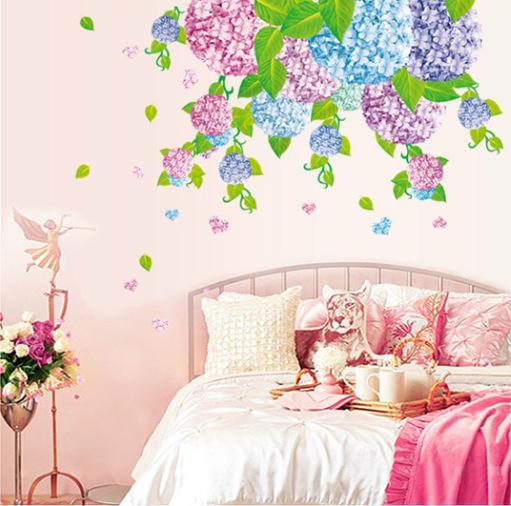 Hydrangea Wall Art hydrangea flower wall stickers wedding room background stickers