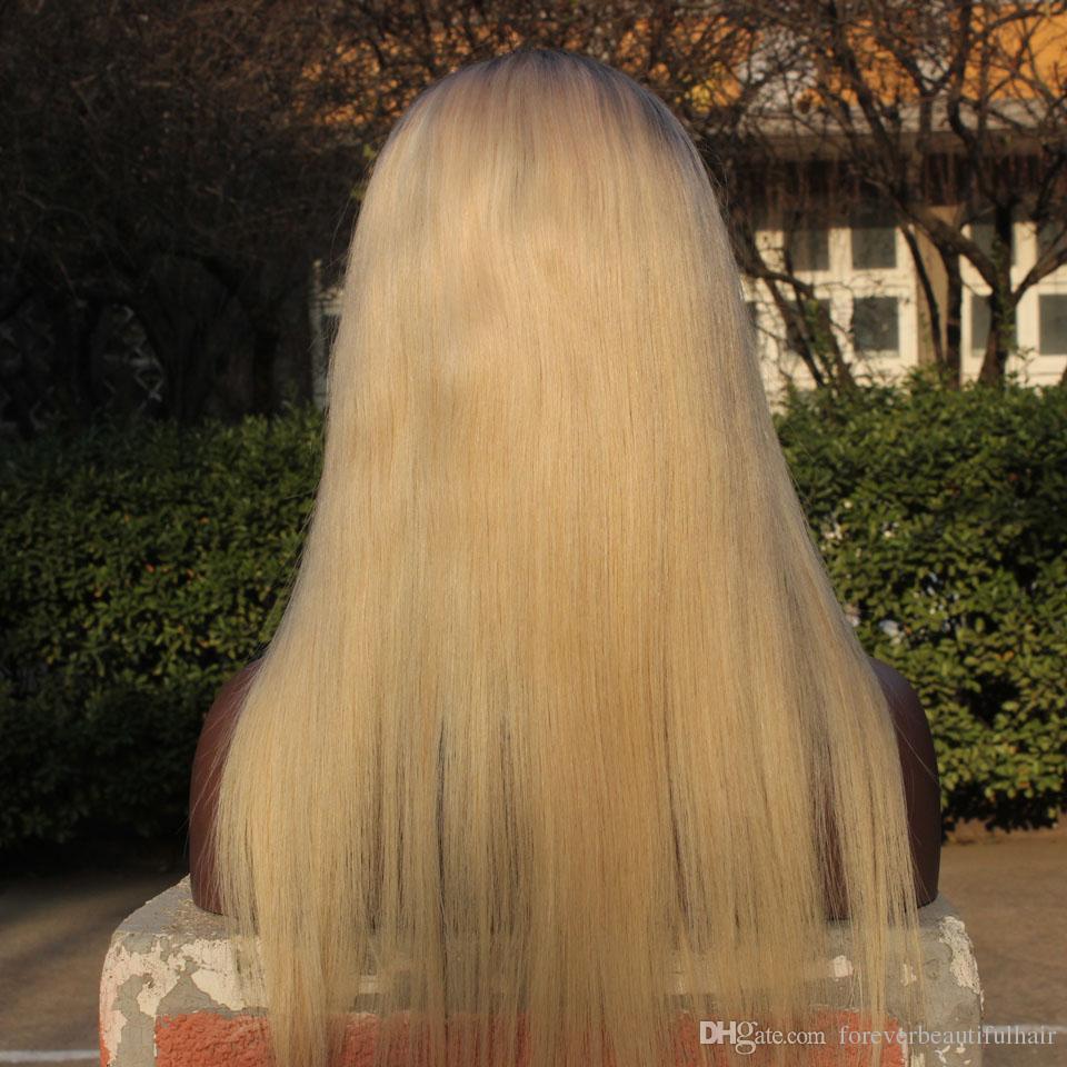 Pelucas llenas del cordón de Ombre Raíz oscura Peluca delantera del cordón del pelo de Remy del humano del 100% Pelucas reales del peinado de Beyonce de la Virgen del brasileño del Glueless del 130% en venta