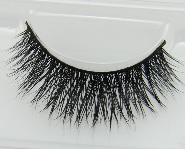 Premium Quality False Eyelashes Handmade Natural Long Thick Mink Fur Eyelashes Soft Fake Eye Lash extensions Black Terrier Full Strip Lashes