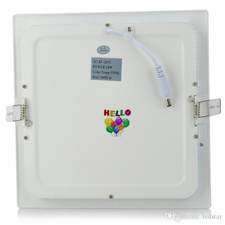 9W / 12W / 15W / 18W / 21W調光対応LEDパネルライト埋め込み式ダウンライト灯灯屋内ライト85-265V + LEDドライバーのためのラウンド/正方形のLEDライト