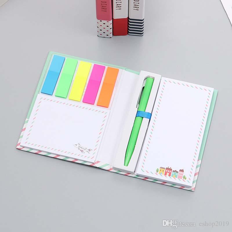Wholesale Korea Stationery Originality Lovely Small Fresh Hard Shell Notepad Group Combine Facilitate Subsidies Note Basis Bring Pen