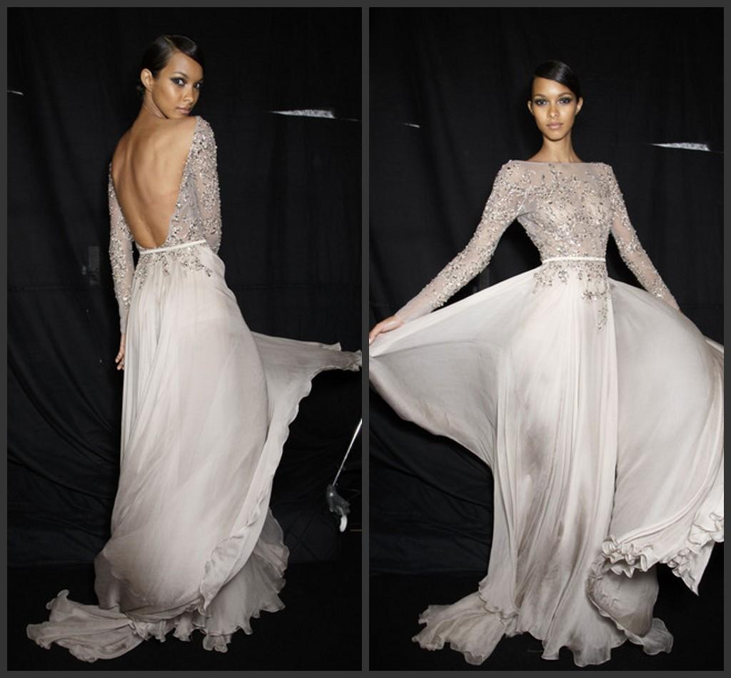 Hot Sale 2015 Evening Gowns High Neck Backless Appliques Beaded ...
