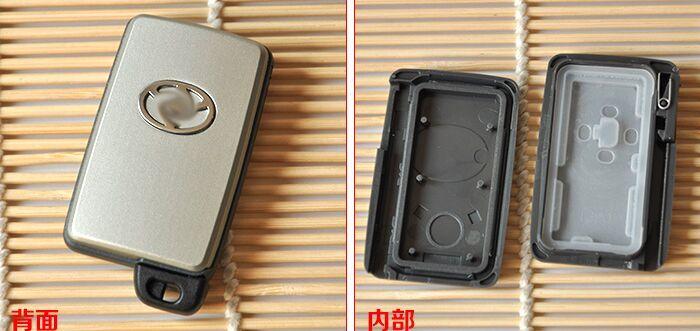 トヨタレイズスマートキーカード3ボタンスマートリモートキーケースFOB 3ボタンカットブレード付きトヨタアバロン用ボタン