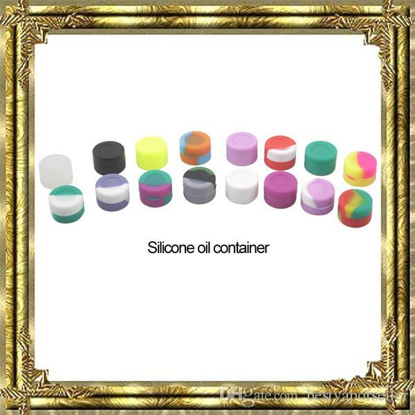 أعلى جودة سيليكون غير عصا الشمع حاويات الغذاء الصف 42 ألوان 3 ملليلتر البسيطة dab شمعي الجرار التركيز حالة fda المعتمدة ecig مربع dhl