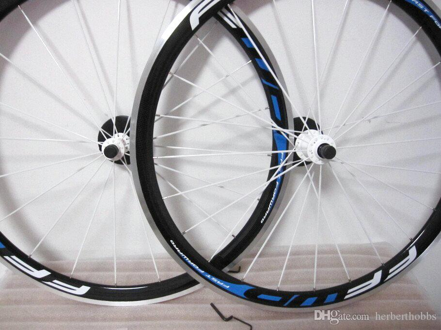Blue Ffwd F4R 38mm Clincher Aluminum Bicycle Wheel 700c Carbon Road Wheelset +Quick Release Glossy/Matte