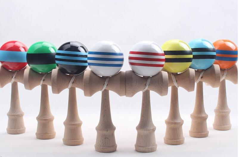 18.5cm*6cm PU Kendama Ball Japanese Traditional Wood Game Toy Education Gifts Activity Gifts toys Hot Sale High-grade Beech wood Sports Toys