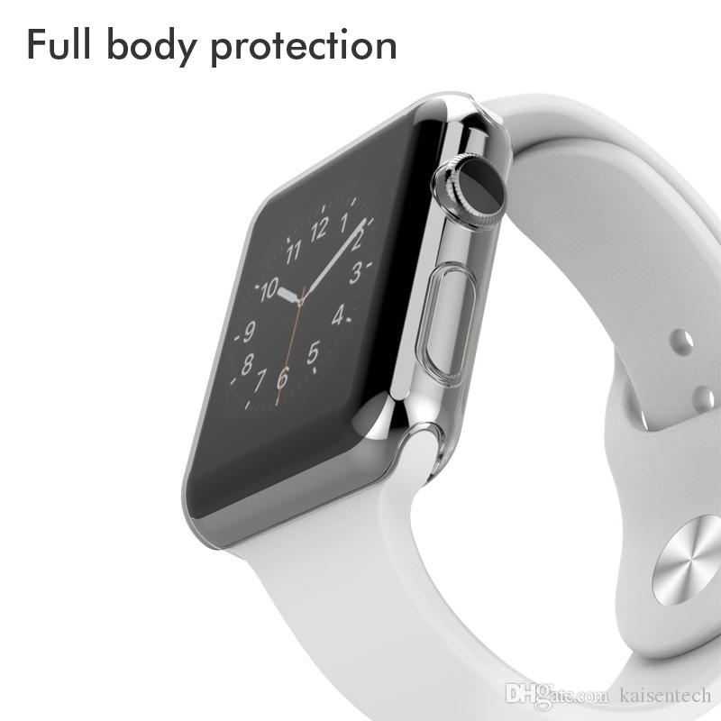 Ultra Thin Crystal Clear Soft TPU Full body protection Case cover for Apple Watch Series 3 2 Screen Protector shell Coque fundas 38mm 42mm
