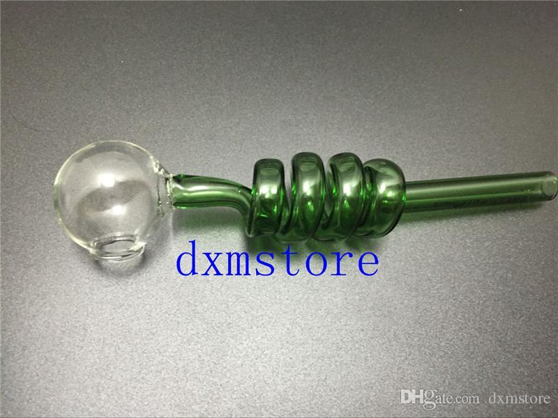 Hoge kwaliteit glazen buizen gebogen glazen oliebranders buizen met verschillende gekleurde balancer waterpijp rokende pijpen