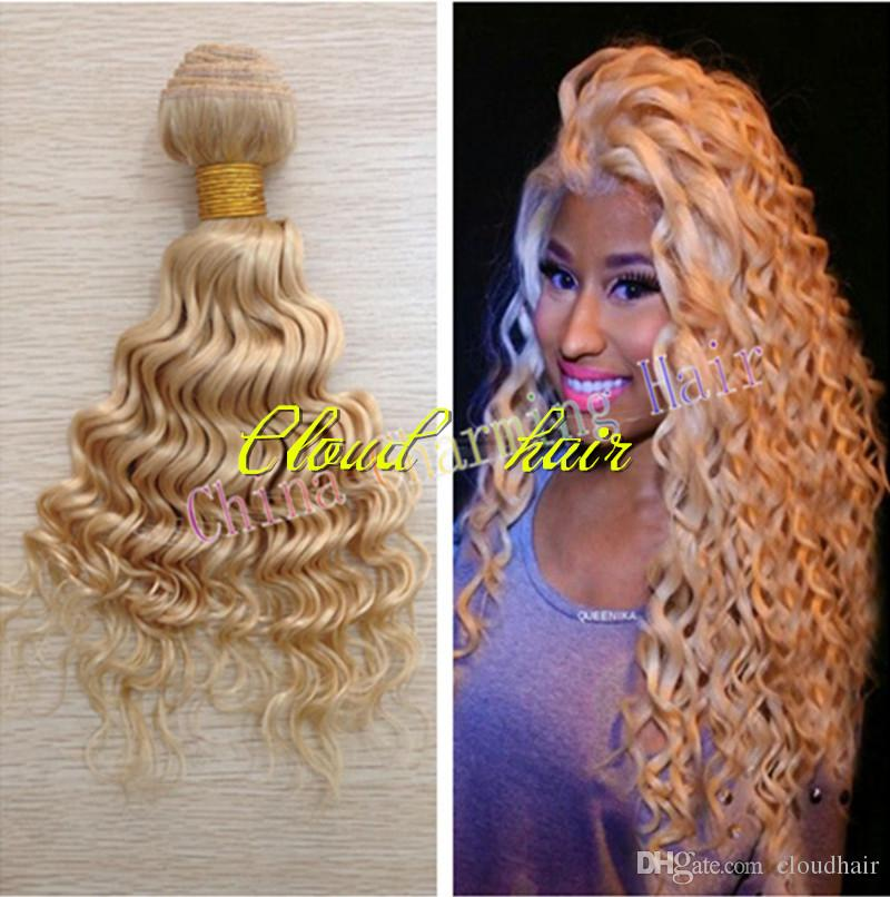 Top grade 7a pure color 613 bleached blonde virgin brazilian top grade 7a pure color 613 bleached blonde virgin brazilian human hair weave weft deep wave 8 26inches hot deep curly remy hair extensions pmusecretfo Gallery