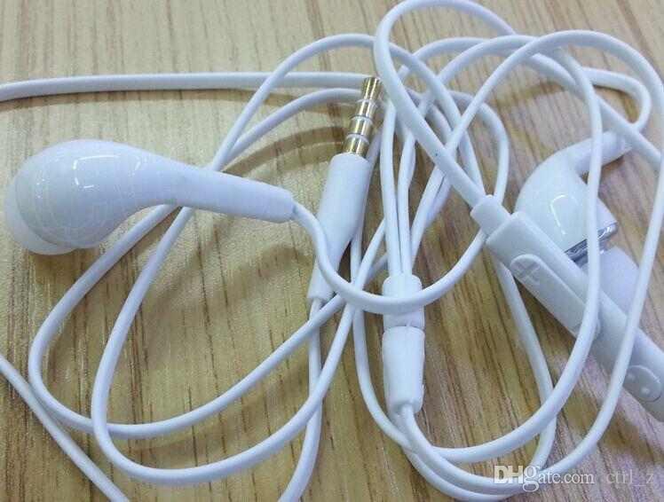 Fone de ouvido estéreo de 3.5mm fones de ouvido fone de ouvido com microfone e controle remoto para samsung galaxy s5 s4 note3 nota 4 preto branco