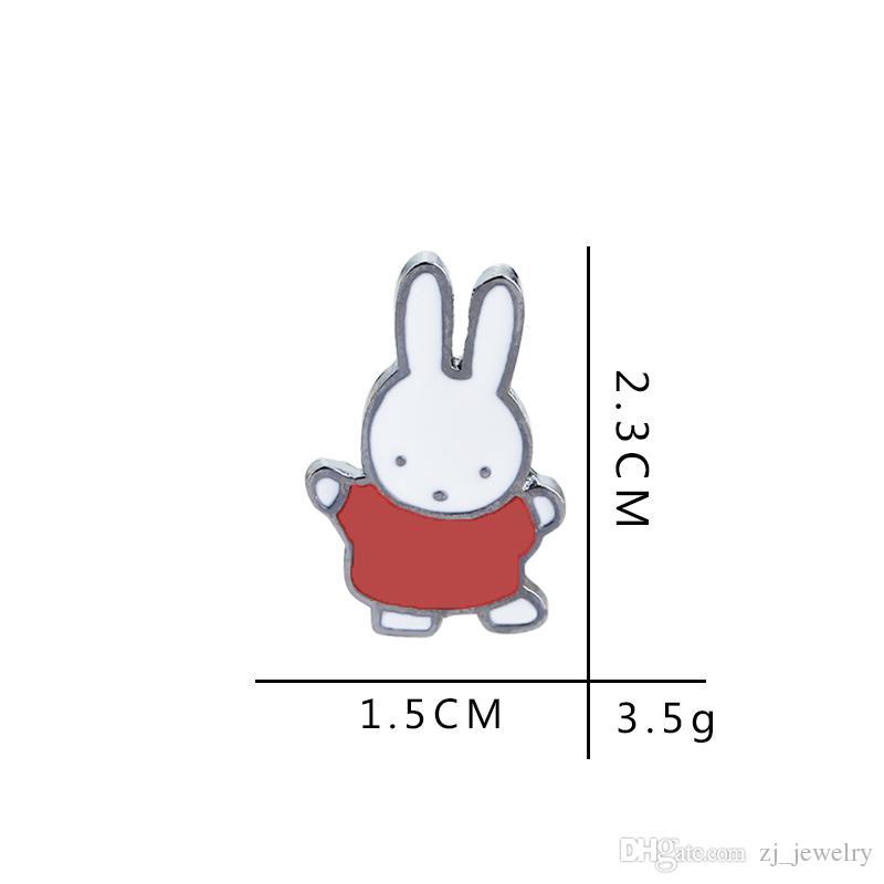 Bunny Hard Enamel Pins Insignia Kawaii Accessories Cute Red Green Yellow Conejo Solapa Pin Brooch Bunny para Life Planner Lovers
