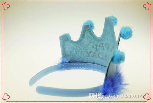 Geburtstag Hut Hochzeit Blumen Mädchen Kleider Mädchen Party Kleider Krone Haarschmuck Stirnband Material Baby Happy Birthday Crystal Crown
