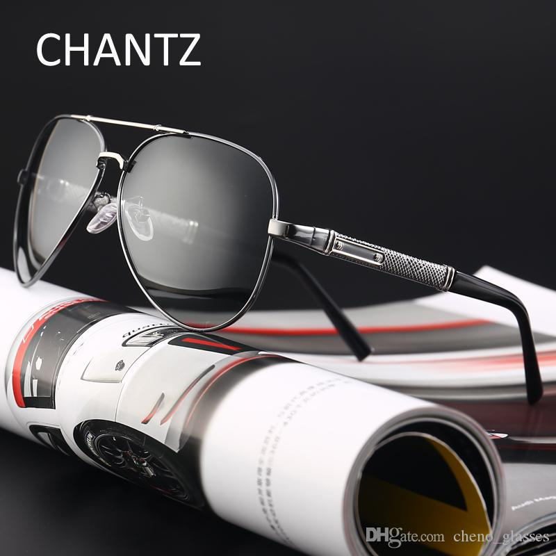 2d7ee07dda0 Retro Photochromic Polarized Sunglasses Men Reflective Lens Brand ...