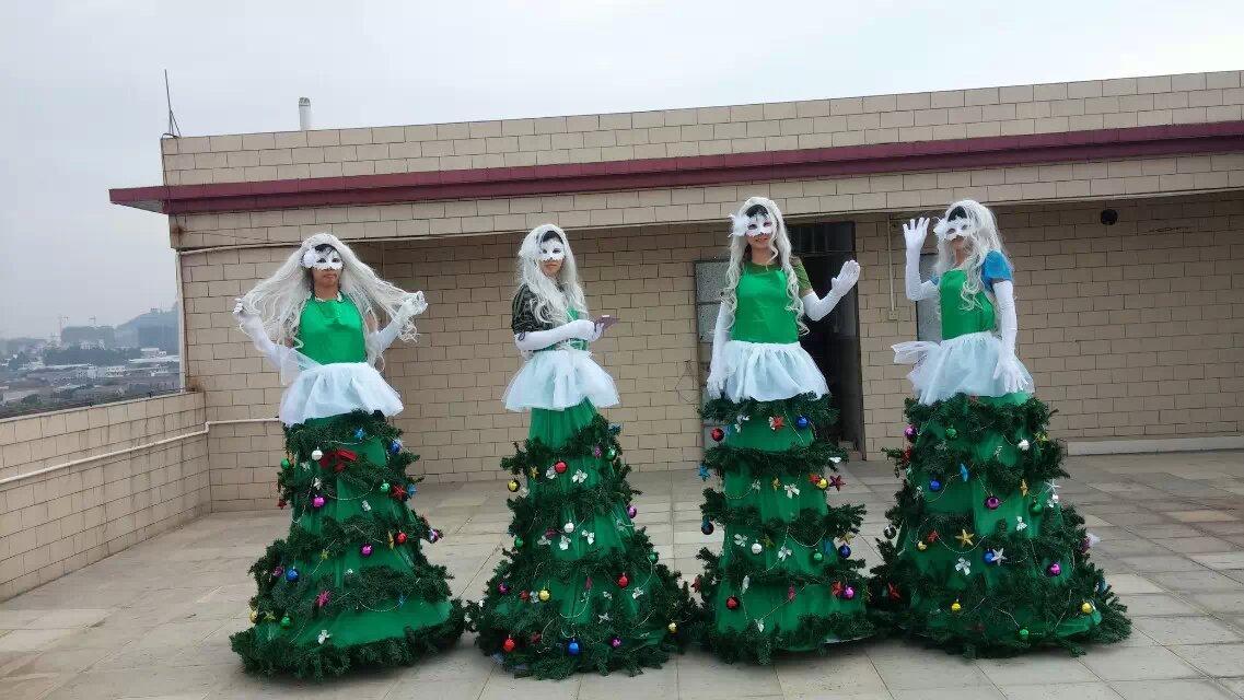 Big Christmas Trees Mascot Costume Fancy Dress Adult Size