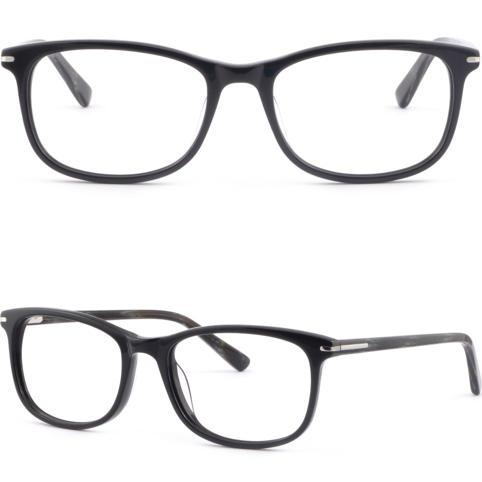 19e36643c8e Square Acetate Spring Loaded Men Women Frame Prescription Glasses Sunglass  Black Glasses Frame Online with  35.87 Piece on Aceglasses s Store