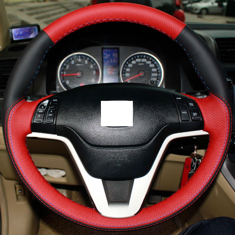 xuji steering wheel cover for honda crv cr v 2007 2008 2009 2010 2011 car special hand stitched. Black Bedroom Furniture Sets. Home Design Ideas