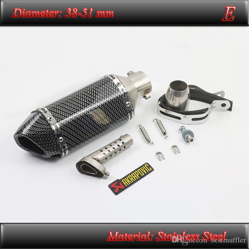 Universal Motorcycle Exhaust Muffler Pipe Silencer With Removable DB Killer 51 mm