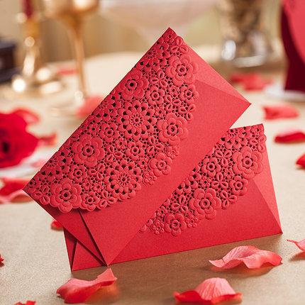 Lase Cut Flower Red Envelope 2015 New Arrival Wedding Gift