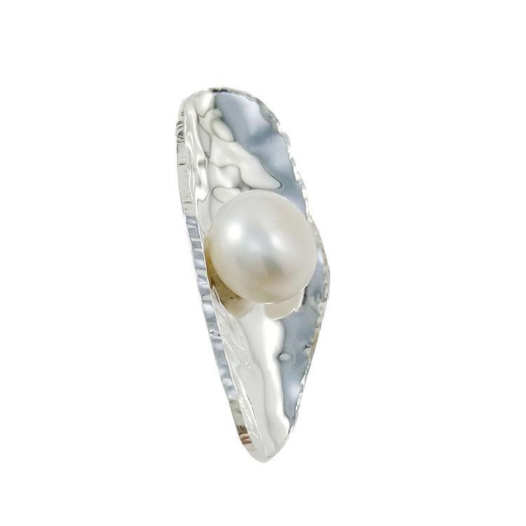 Pendenti in perle a forma di barca collana in argento, design non regolabile, gioielli in argento e nero, charms N976 online
