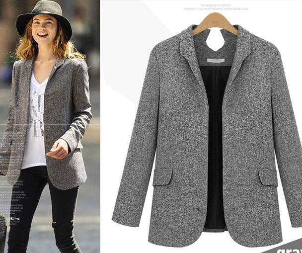 2018 2015 spring and autumn fashion blazer women 5xl plus size