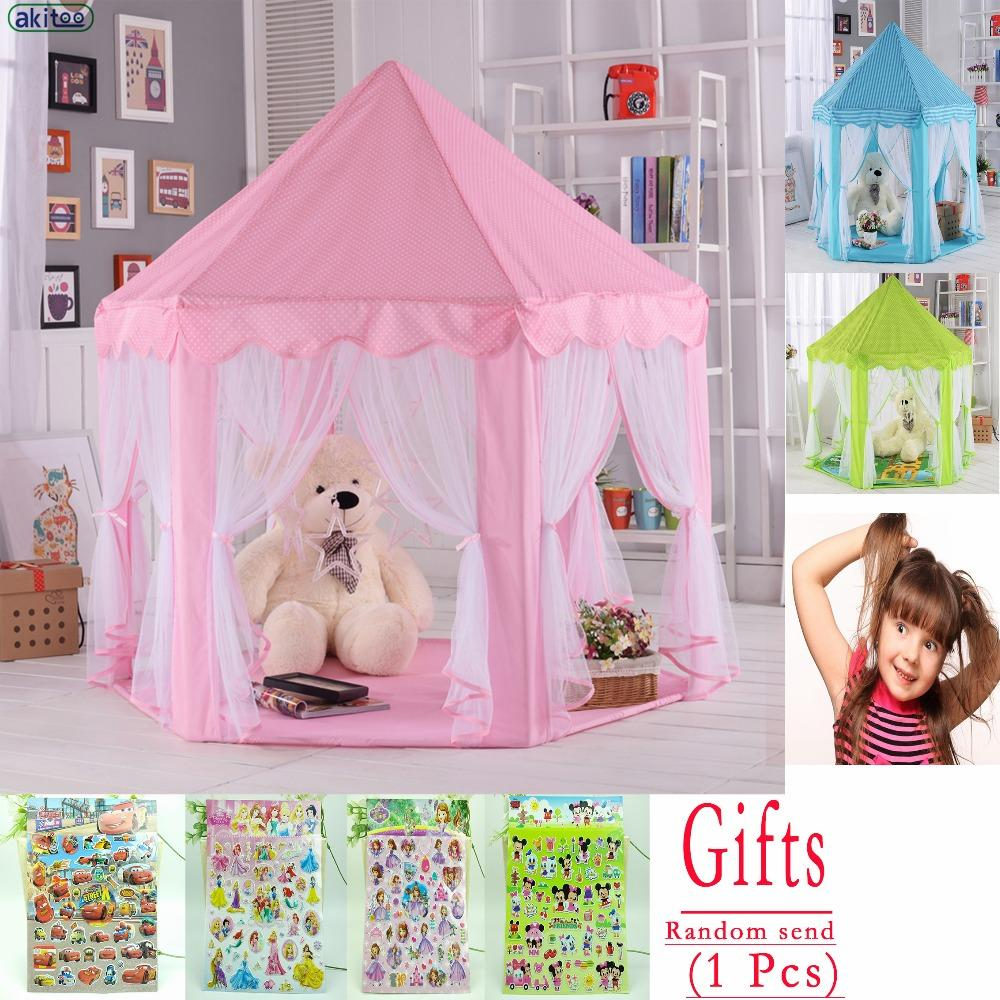 Wholesale New 116 Upgrades Six Korean Angle Princess Castle Gauze Tent House Girl Children Large Indoor Toy Game House Mosquito Best Gift Girls Play Tents ... & Wholesale New 116 Upgrades Six Korean Angle Princess Castle Gauze ...
