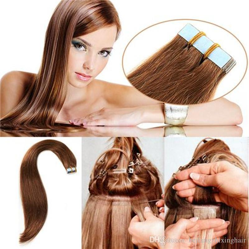 Wholesale 10a Russian Remy Extensions Double Drawn Pu Tape In Hair