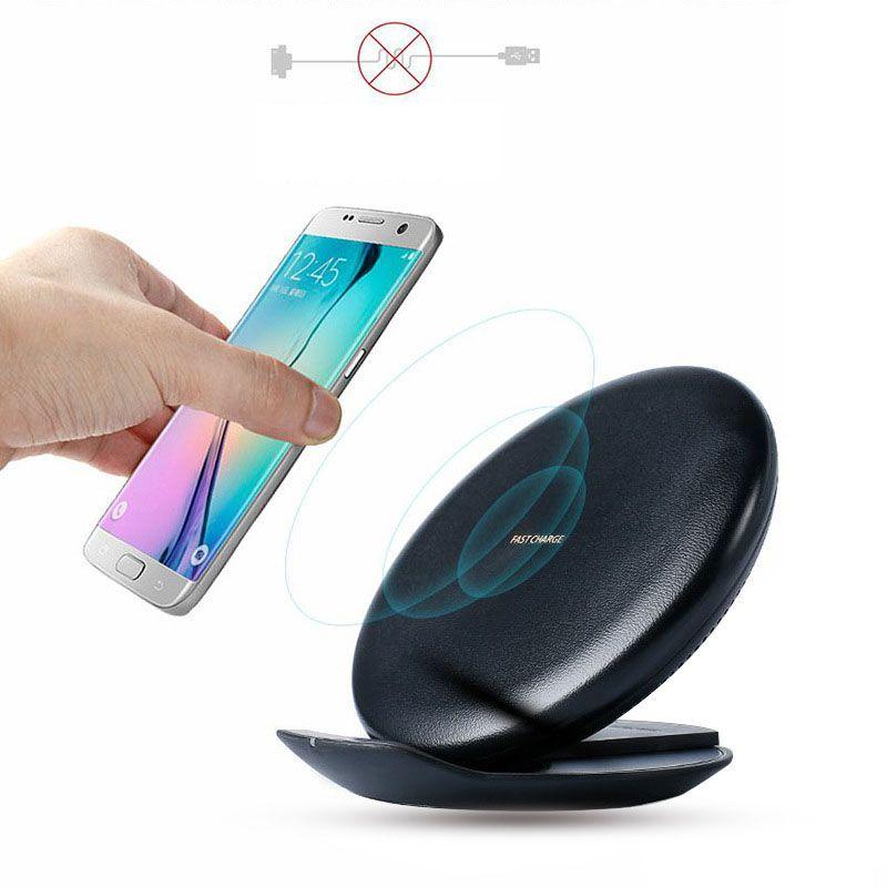 Pour Samsung S8 Charge rapide QI Pad de charge sans fil convertible Stand pour iPhone X 8 Samsung Galaxy Note 8 S8 Plus S7 S6
