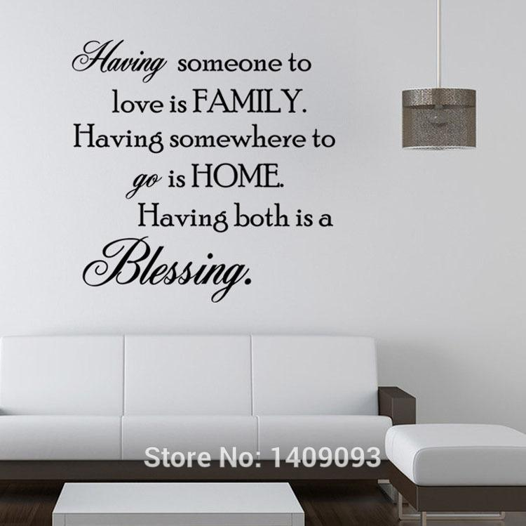 Elegant Compre Vivid Family Wall Decal Quotes Having Somebody To Love Is Family  Palavras E Provérbios Wall Sticker Decorative Home Decor De Sunect_home, ...