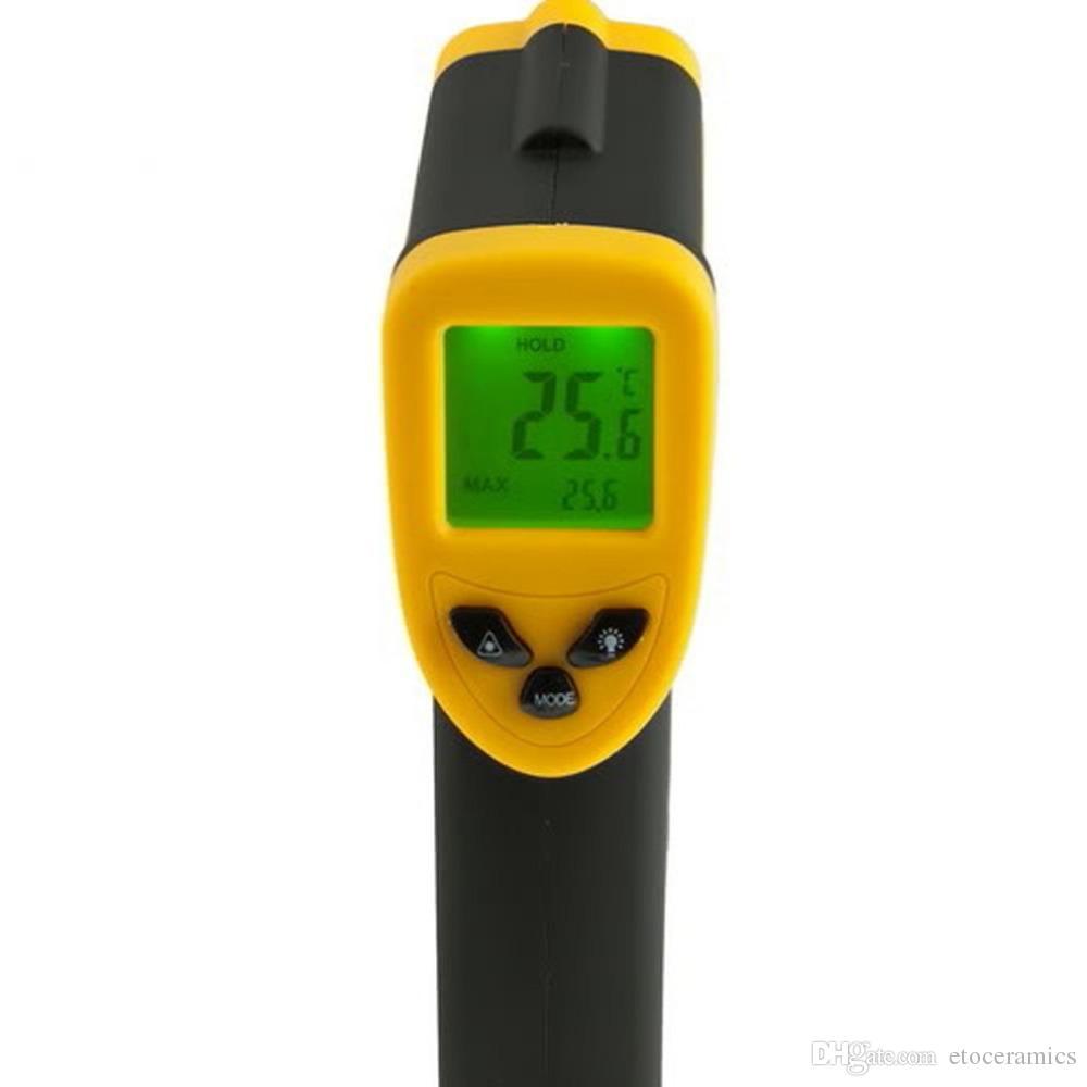 휴대용 비 접촉 IR 레이저 적외선 디지털 온도계 DT380 -50-380C GT 페덱스 DHL 무료 빠른 배송