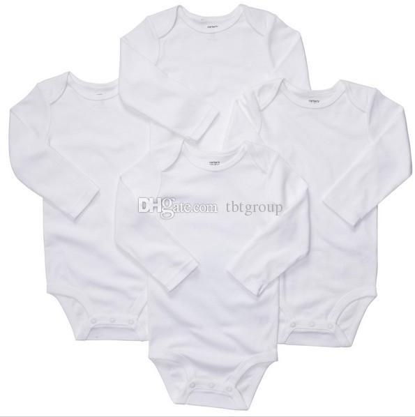 Baby-Jungen-Mädchen-Spielanzugkörperanzug Neugeborene lange Hülsen-Spielanzug Onesies 100% Baumwollkleidungs-Satz-Dreieck volle Größen auf Lager