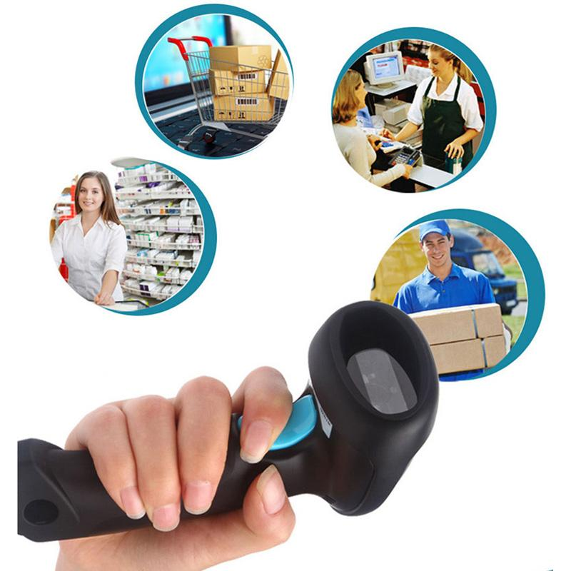 Wholesale- CT007HRed Barcode Scanner in Mobile Phone / Wechat / Supermarket  / Scanner Gun Using Microscopic One Dimension