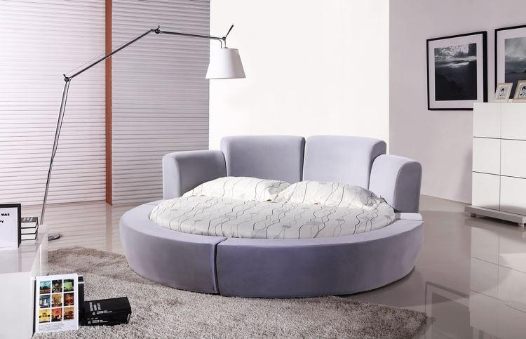 Super KIng Size Fabric Soft Bed 2x2M Luxury Modern Design Large Round Shaped Super King Size Confortable Fabric Bed CY001 2